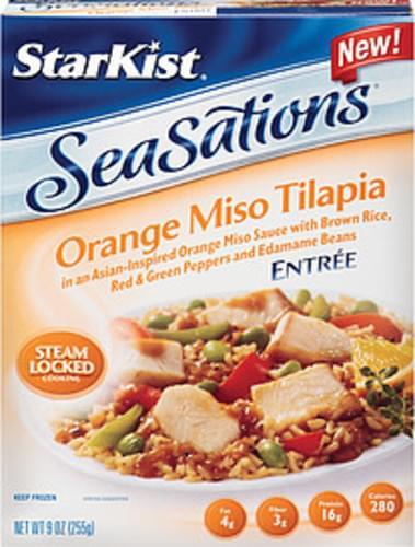 Starkist Seasations Orange Miso Tilapia Entree - 9 oz