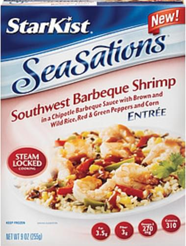 Starkist Seasations Southwest Barbeque Shrimp Entree - 9 oz