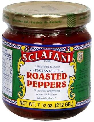Sclafani Italian Style Roasted Peppers - 7.5 oz