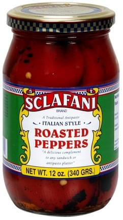 Sclafani Italian Style Roasted Peppers - 12 oz