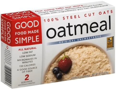 Good Food Made Simple Original Unsweetened Oatmeal - 2 ea