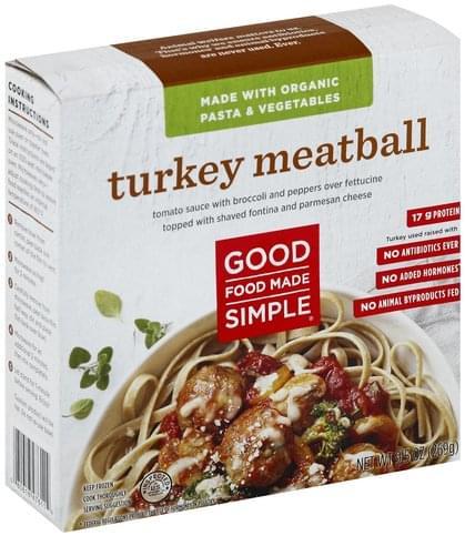 Good Food Made Simple Turkey Meatball - 9.5 oz