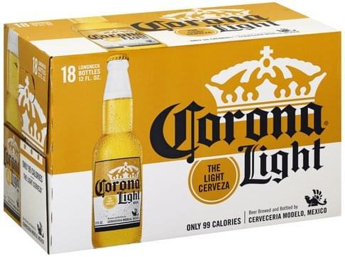 Light Cerveza, Longneck Beer - 18 ea