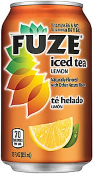 Fuze Lemon Iced Tea - 12 oz, Nutrition
