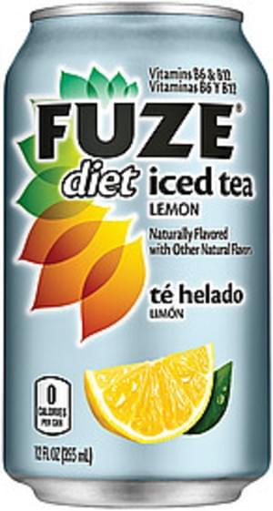 Fuze Diet Lemon Iced Tea - 12 oz