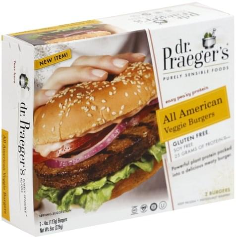 Dr Praegers All American Veggie Burgers - 2 ea