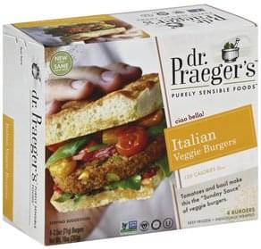 Dr Praegers Veggie Burgers Italian
