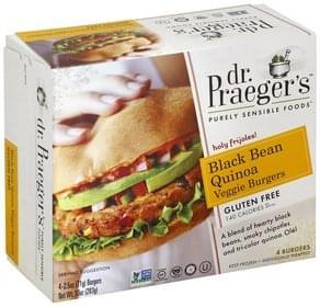 Dr Praegers Veggie Burgers Gluten Free, Black Bean Quinoa