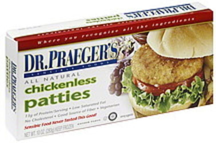 Dr Praegers Chickenless Patties - 10 oz
