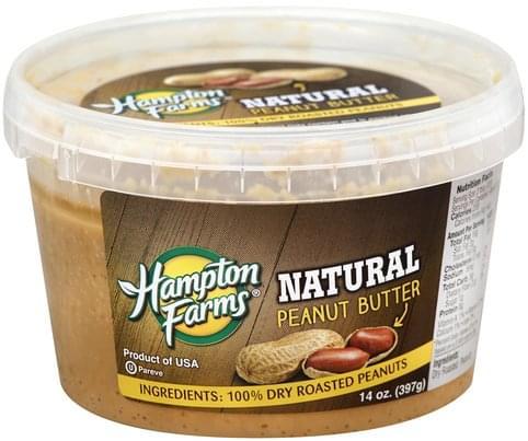 Hampton Farms Natural Peanut Butter - 14 oz