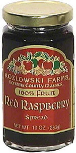 Kozlowski Farms Red Raspberry Spread - 10 oz