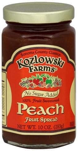 Kozlowski Farms Peach Fruit Spread - 10 oz