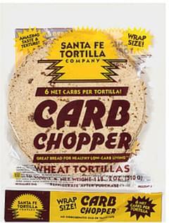 Santa Fe Tortilla Company Tortillas Carb Chopper Wheat