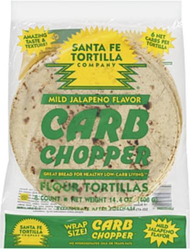 Santa Fe Tortilla Company Lo Carb Jalapeno Tortilla - 14.4 oz