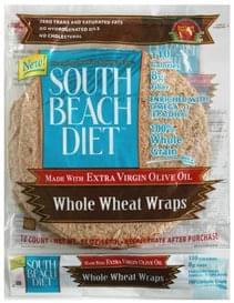 South Beach Diet Whole Wheat Wraps