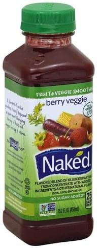 Naked Berry Veggie 100% Juice Smoothie - 15.2 oz