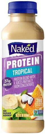 Naked Tropical Protein Juice Blend - 15.2 oz