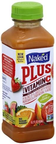 Naked Plus with Vitamin C 100% Juice Smoothie - 15.2 oz