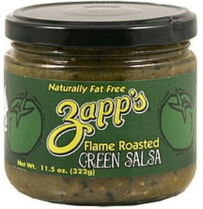 Zapps Salsa Flame Roasted, Green