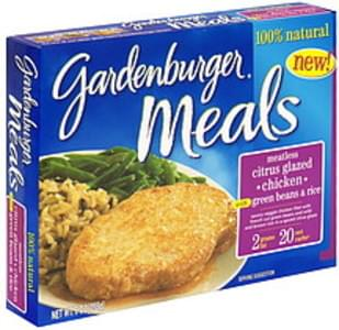 Gardenburger Meatless Citrus Glazed Chicken with Green Beans & Rice