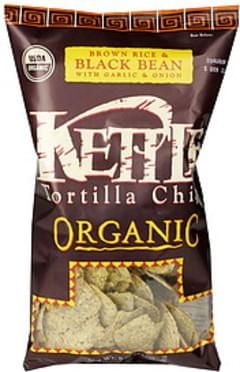 Kettle Tortilla Chips Organic, Brown Rice & Black Bean with Garlic & Onion
