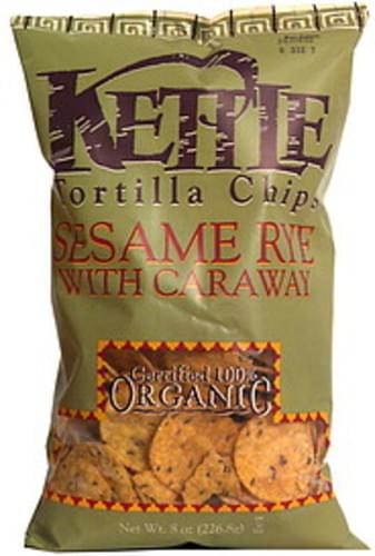 Kettle Sesame Rye with Caraway Tortilla Chips - 8 oz