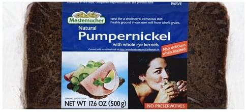 Mestemacher Natural Pumpernickel Bread - 17.6 oz