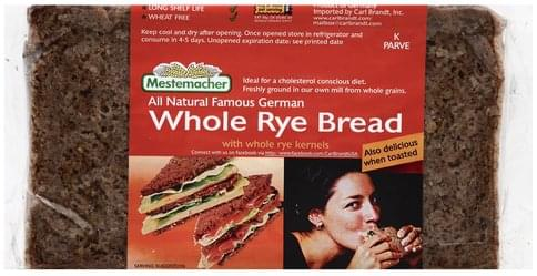 Mestemacher Whole Rye Bread - 17.6 oz