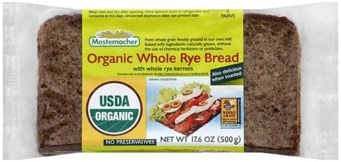 Mestemacher Organic, Whole Rye Bread - 17.6 oz