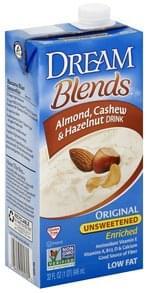 Dream Blends Almond, Cashew & Hazelnut Drink Original Unsweetened