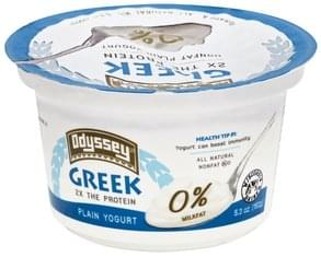 Odyssey Yogurt Greek, Nonfat, Plain