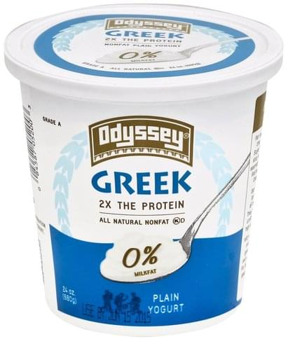 Odyssey Greek, Nonfat, Plain Yogurt - 24 oz