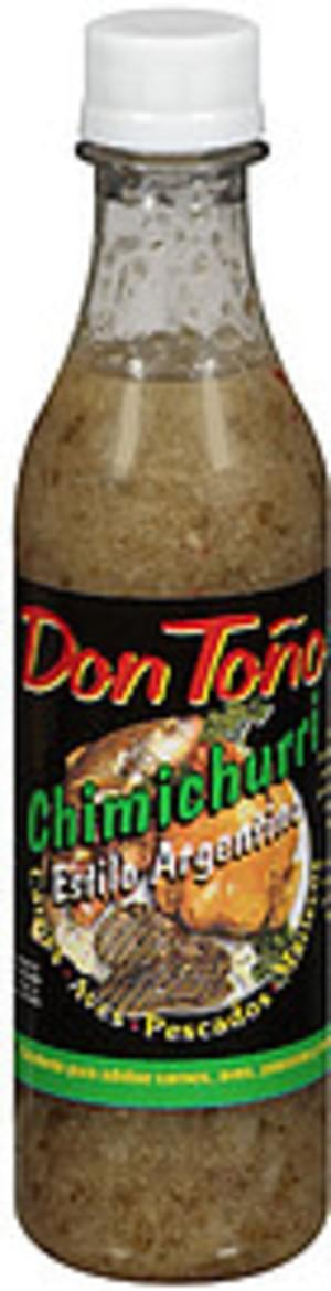 Don Tono For Meat, Poultry and Seafood Sauce - 12 oz