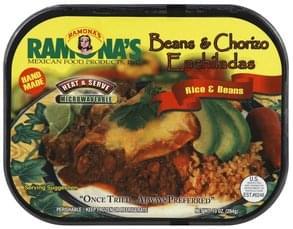 Ramonas Beans & Chorizo Enchiladas Rice & Beans