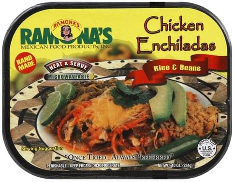 Ramonas Rice & Beans Chicken Enchiladas - 10 oz