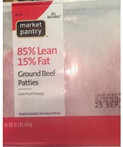 Market Pantry Ground Beef Patties