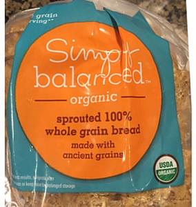Simply Balanced Organic Sprouted 100% Whole Grain Bread