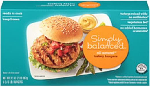 Jennie-O Simply Balanced All Natural Turkey Burgers All Natural