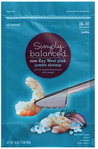 Simply Balanced Key West Pink, Jumbo, Raw Shrimp - 16 oz
