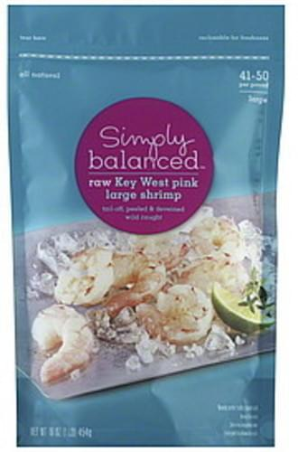 Simply Balanced Key West Pink, Large, Raw Shrimp - 16 oz