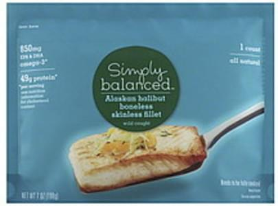 Simply Balanced Halibut Alaskan, Boneless Skinless Fillet