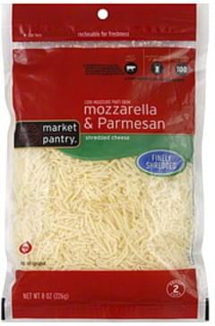 Market Pantry Finely Shredded Cheese Mozzarella & Parmesan