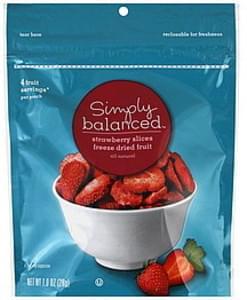 Simply Balanced Strawberry Slices Freeze Dried