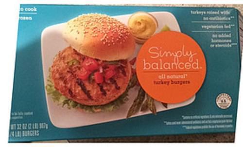 Simply Balanced Turkey Burgers - 112 g