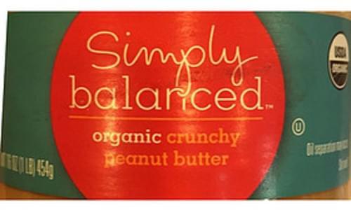 Simply Balanced Organic Crunchy Peanut Butter - 32 g