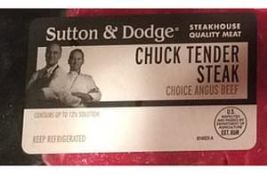 Sutton & Dodge Chuck Tender Steak