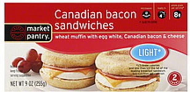 Market Pantry Canadian Bacon Sandwiches Light