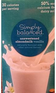 Simply Balanced Unsweetened Almondmilk Vanilla