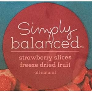 Simply Balanced Strawberry Slices Freeze Dried Fruit