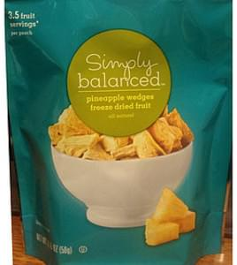 Simply Balanced Pineapple Wedges Freeze Dried Fruit